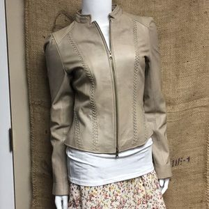 🌸#3575 Arden B. Beige Leather Jacket
